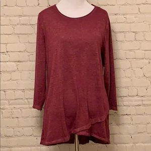 Jersey Knit High Low Top.  NWT